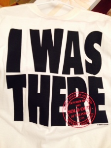 """I WAS THERE"" shirt given out at first ever Ducks game."