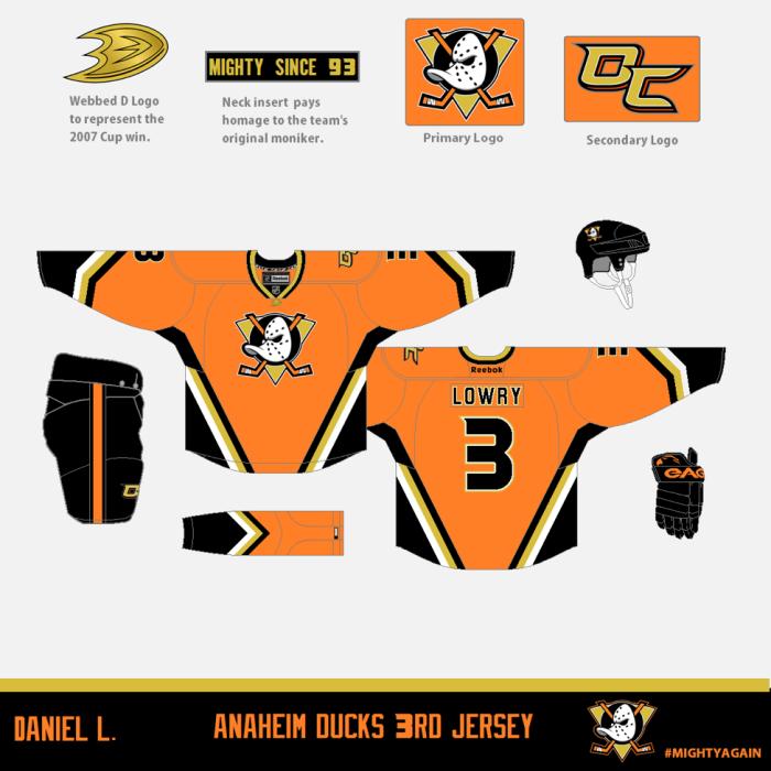 Ducks 3rd Jersey Concept by Daniel Lowry
