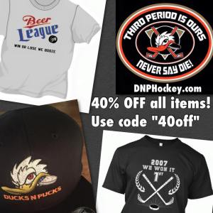 "40% off with code ""40off"" www.dnphockey.com"